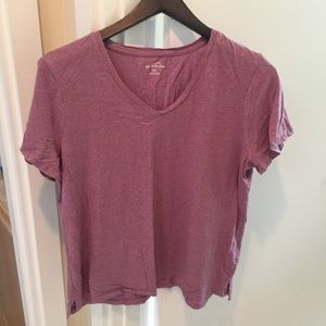 Eddie Bauer Women's xxl 2XL purple v neck shirt